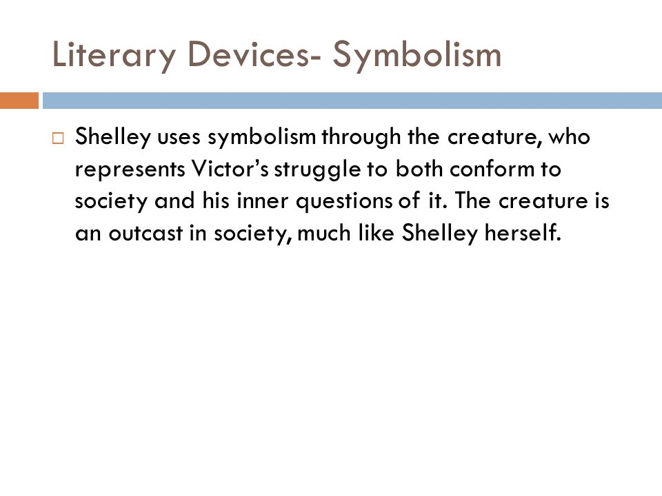 Literary Devices- Symbolism