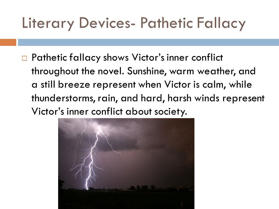 Literary Devices- Pathetic Fallacy