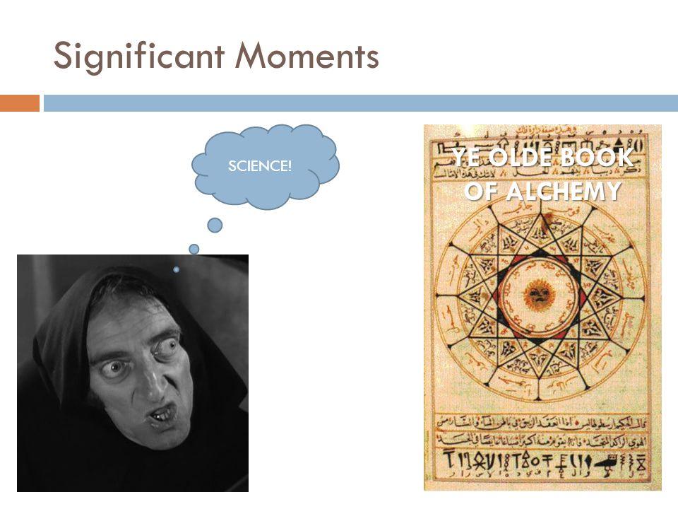Significant Moments SCIENCE! YE OLDE BOOK OF ALCHEMY