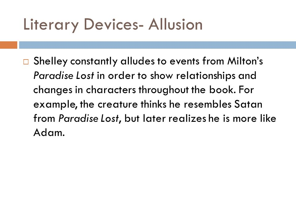 Literary Devices- Allusion