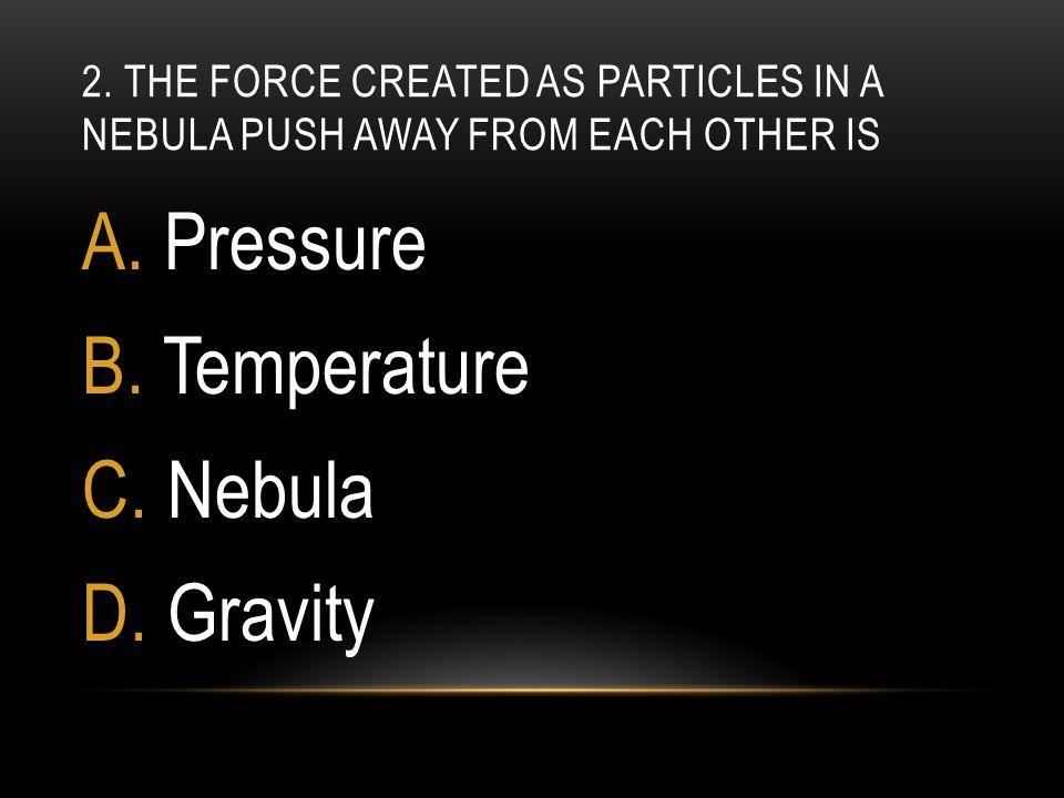 Pressure Temperature Nebula Gravity
