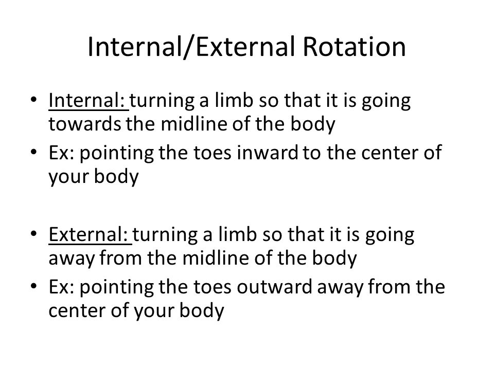 Internal/External Rotation