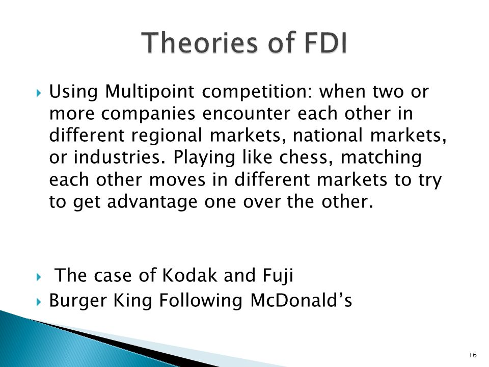 Theories of FDI