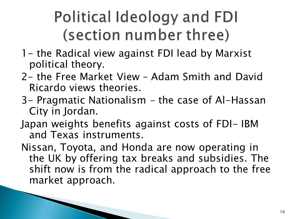 Political Ideology and FDI (section number three)