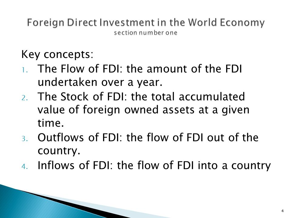 Foreign Direct Investment in the World Economy section number one