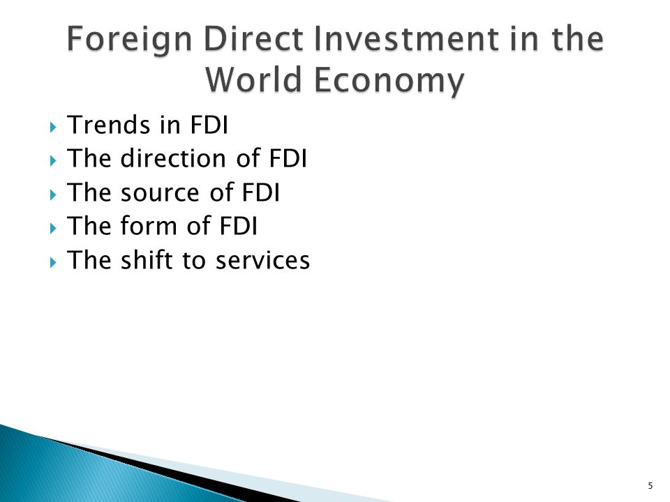 Foreign Direct Investment in the World Economy