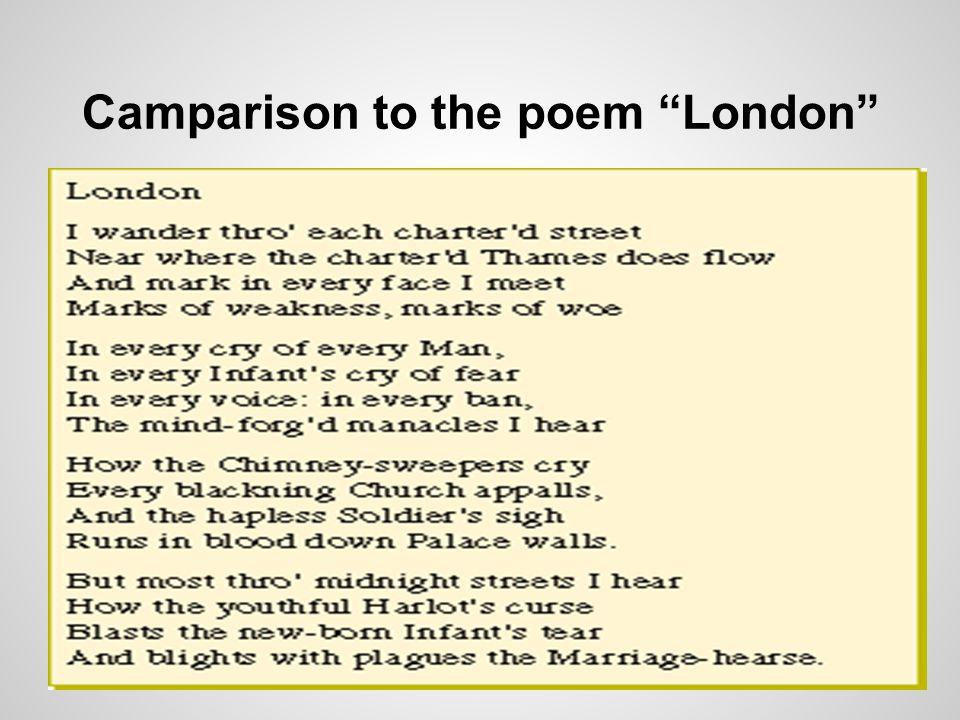 Camparison to the poem London