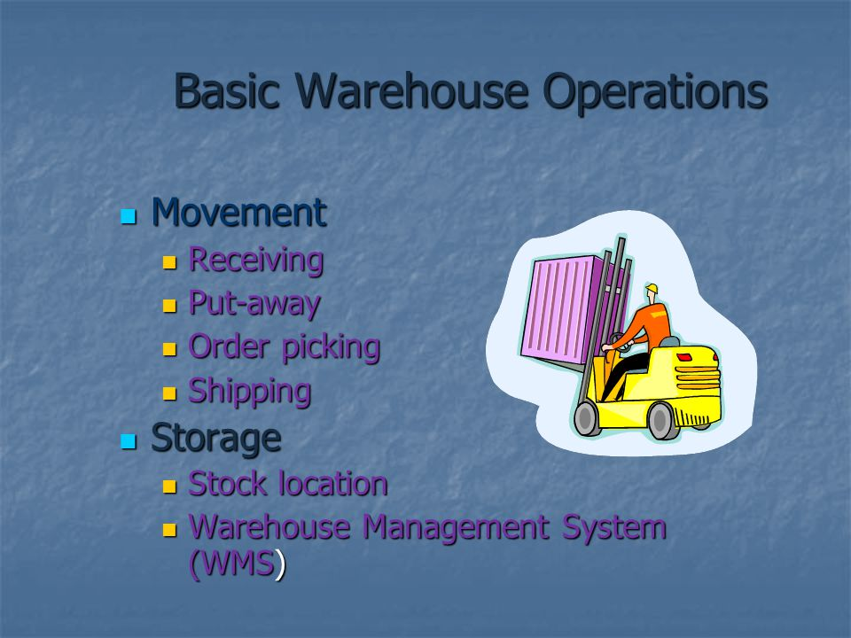 Basic Warehouse Operations