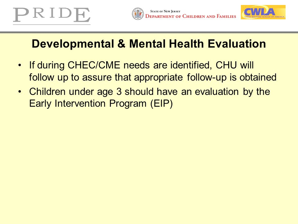 Developmental & Mental Health Evaluation