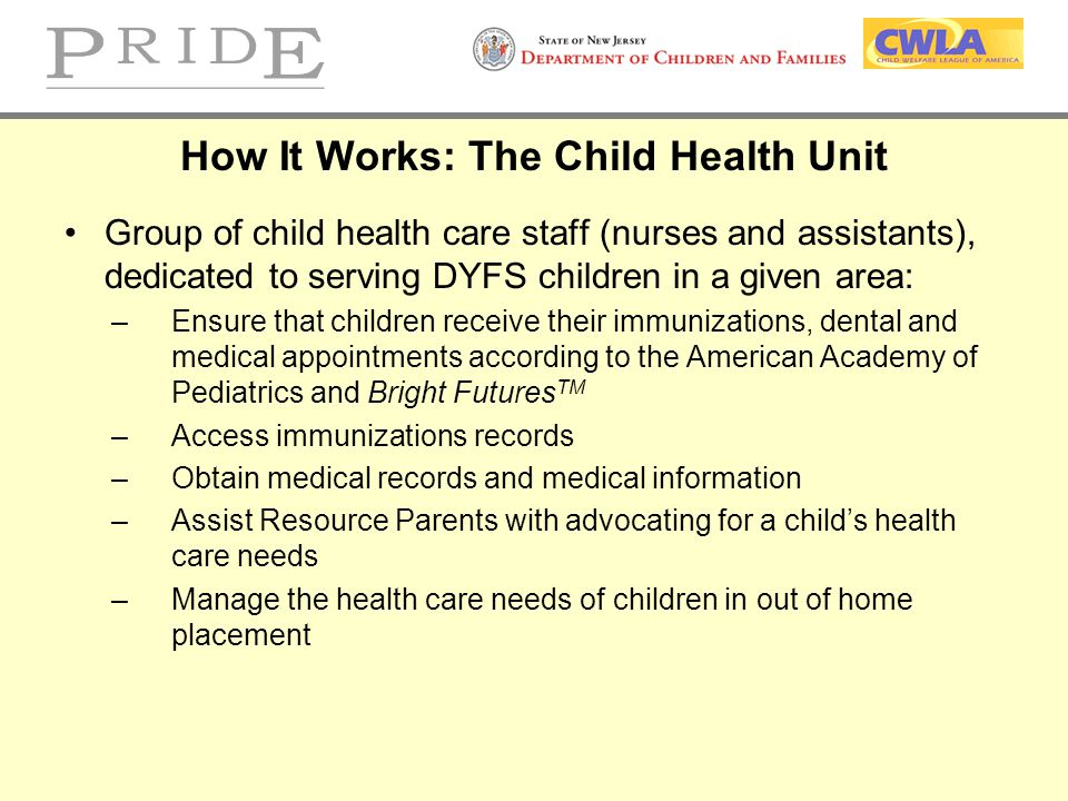 How It Works: The Child Health Unit