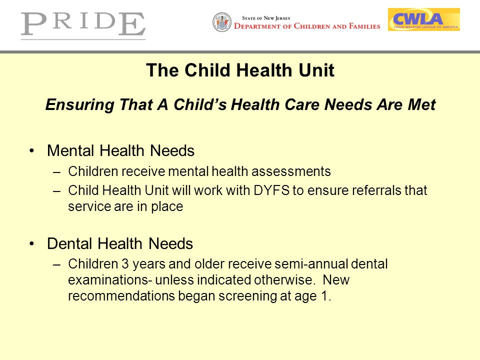 Ensuring That A Child's Health Care Needs Are Met