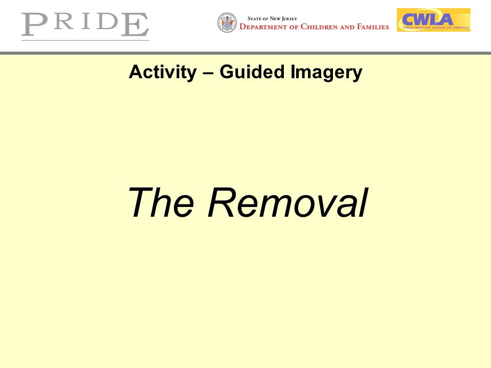 Activity – Guided Imagery