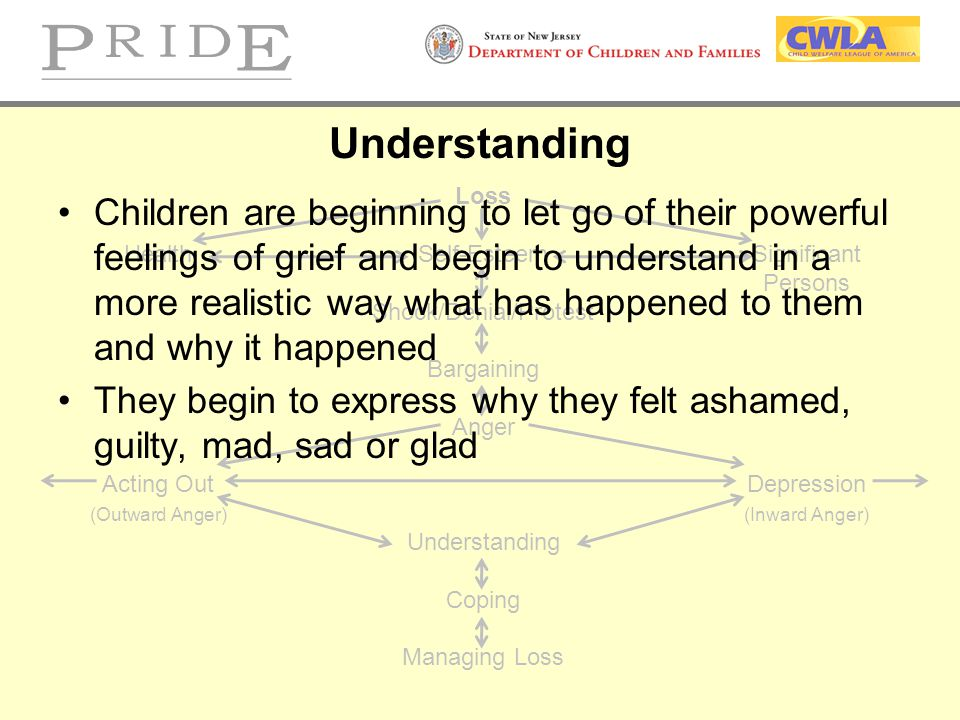 Understanding Loss. Health Self-Esteem Significant. Persons. Shock/Denial/Protest. Bargaining. Anger.