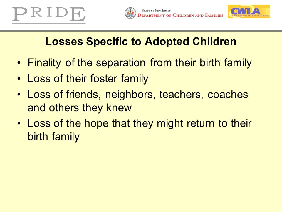 Losses Specific to Adopted Children