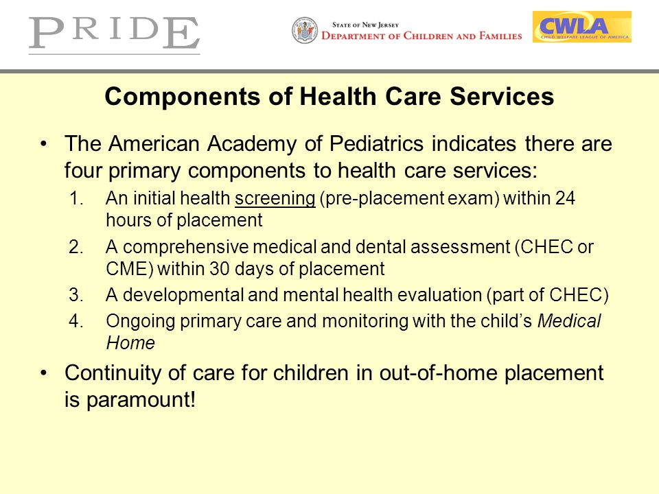 Components of Health Care Services