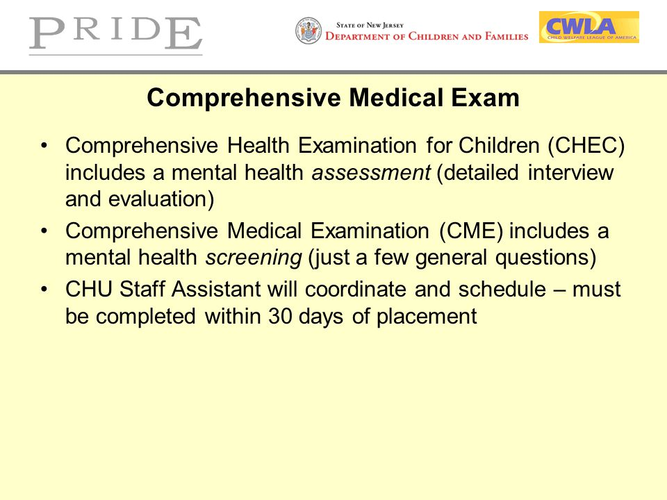 Comprehensive Medical Exam