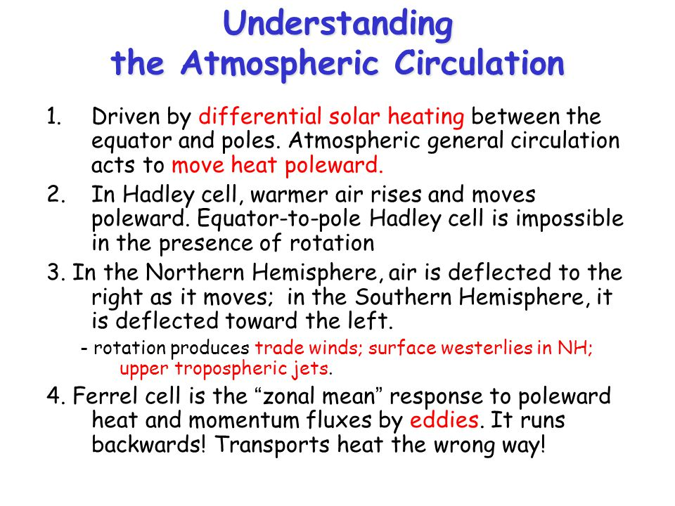 Understanding the Atmospheric Circulation