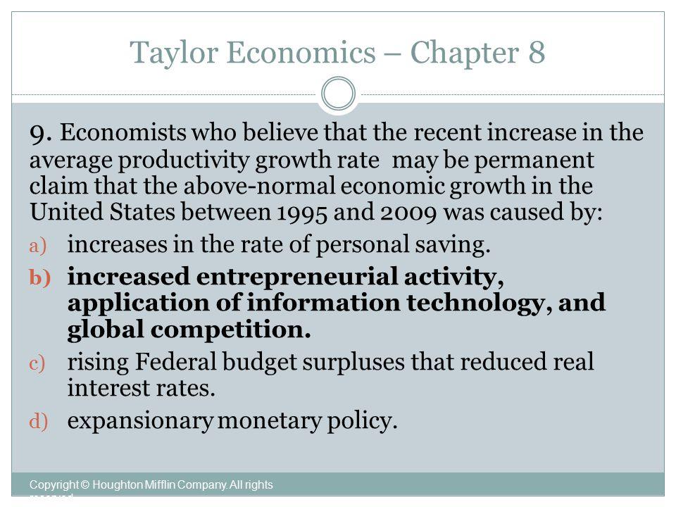 Taylor Economics – Chapter 8