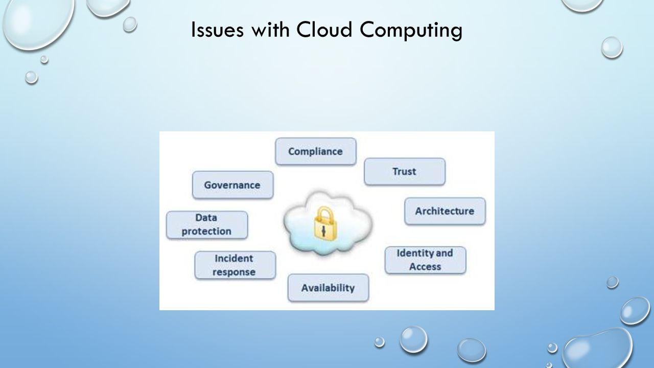 Issues with Cloud Computing