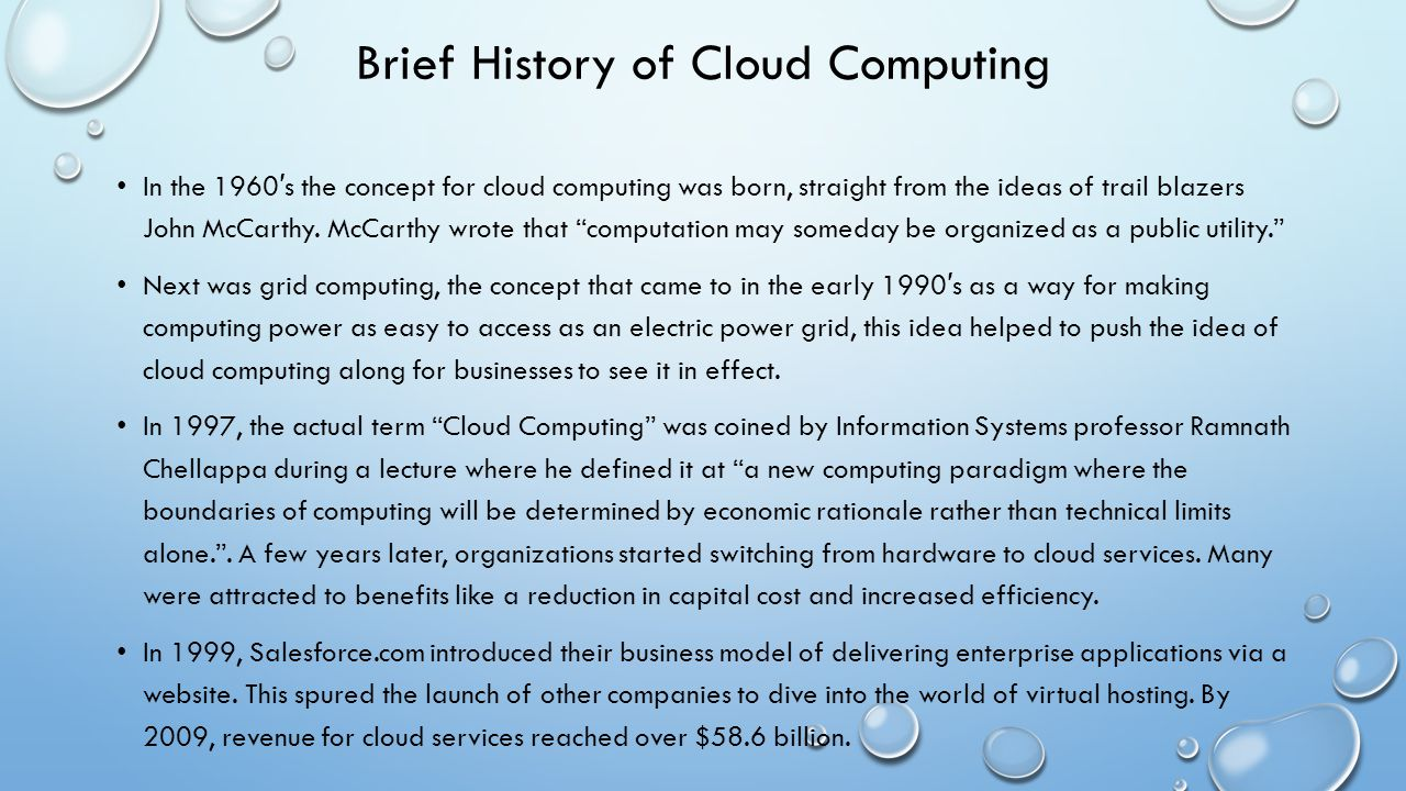 Brief History of Cloud Computing