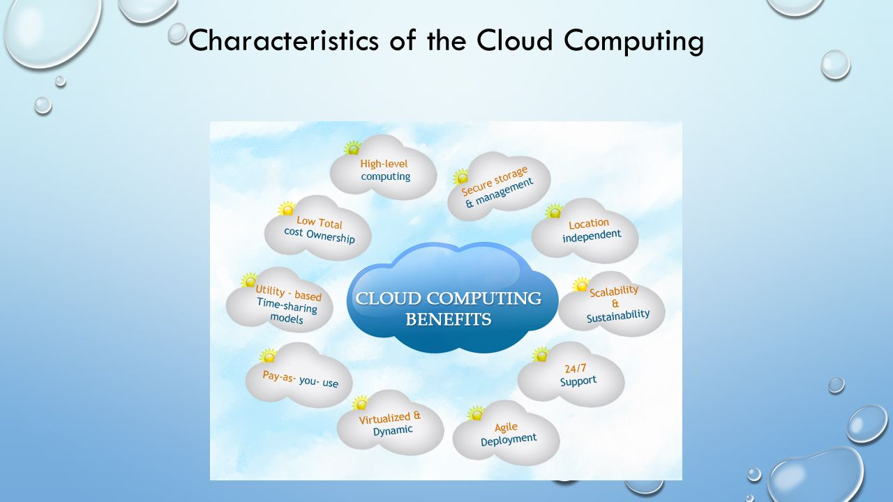 Characteristics of the Cloud Computing