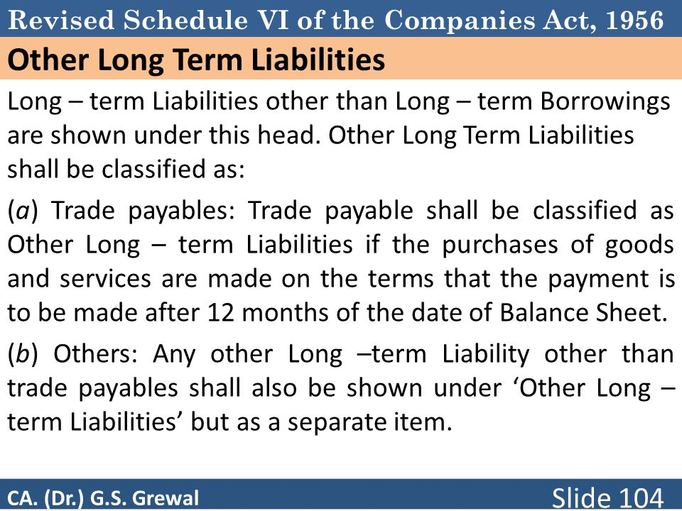 Other Long Term Liabilities