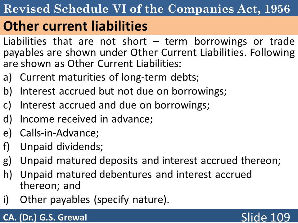 Other current liabilities
