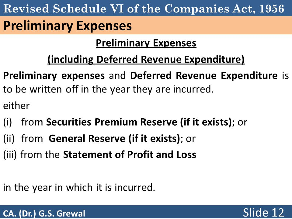 (including Deferred Revenue Expenditure)