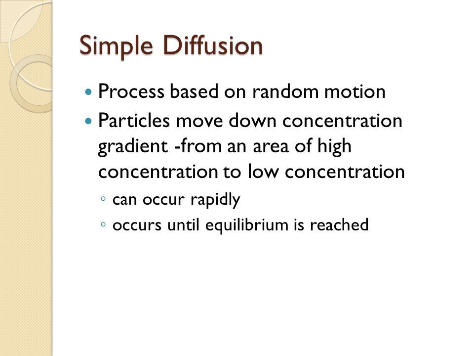 Simple Diffusion Process based on random motion
