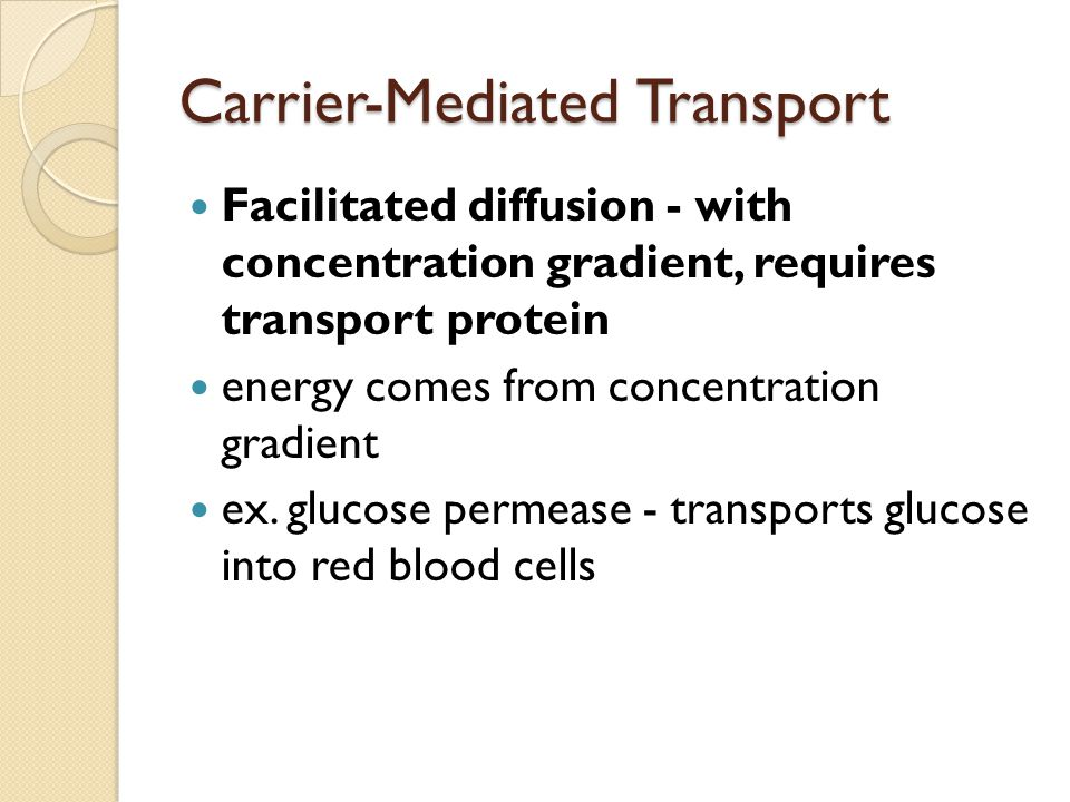 Carrier-Mediated Transport