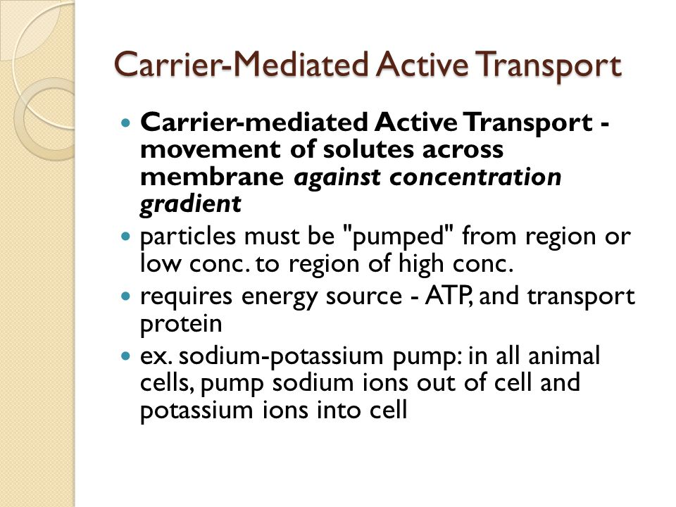 Carrier-Mediated Active Transport
