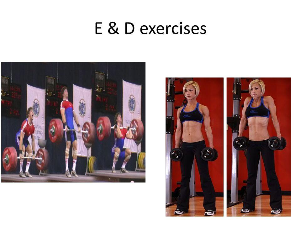 E & D exercises