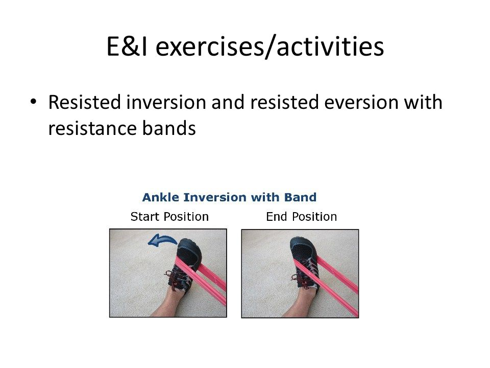 E&I exercises/activities