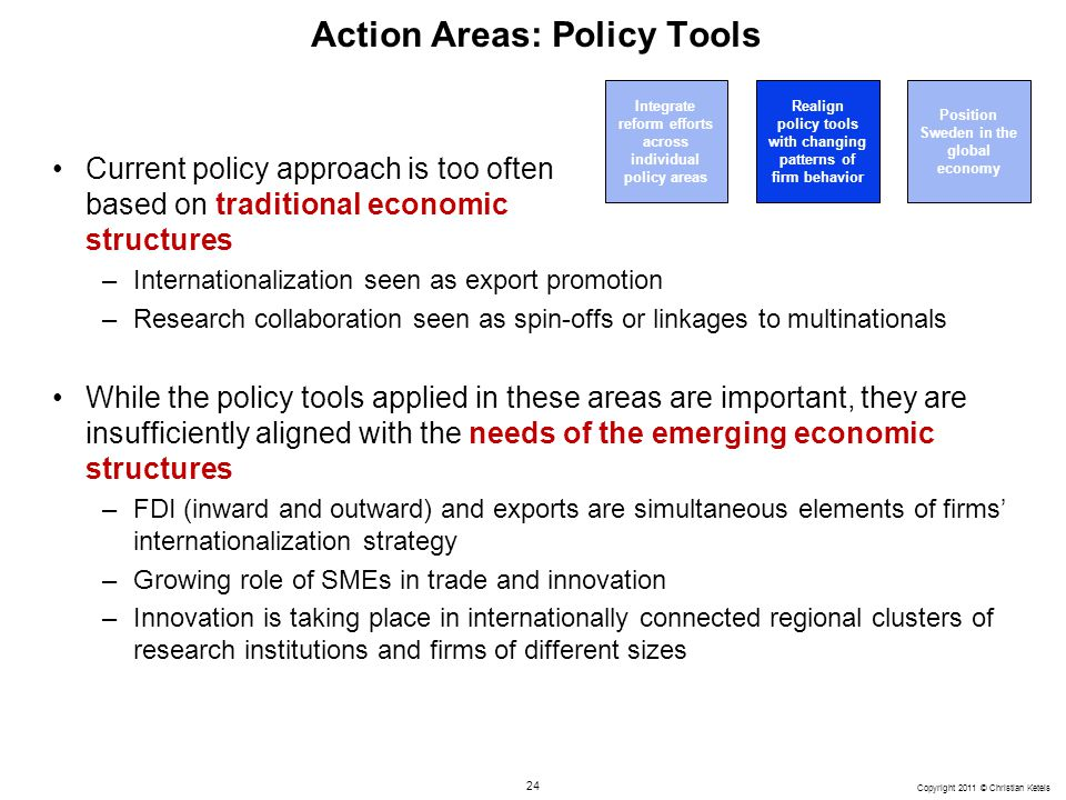 Action Areas: Policy Tools