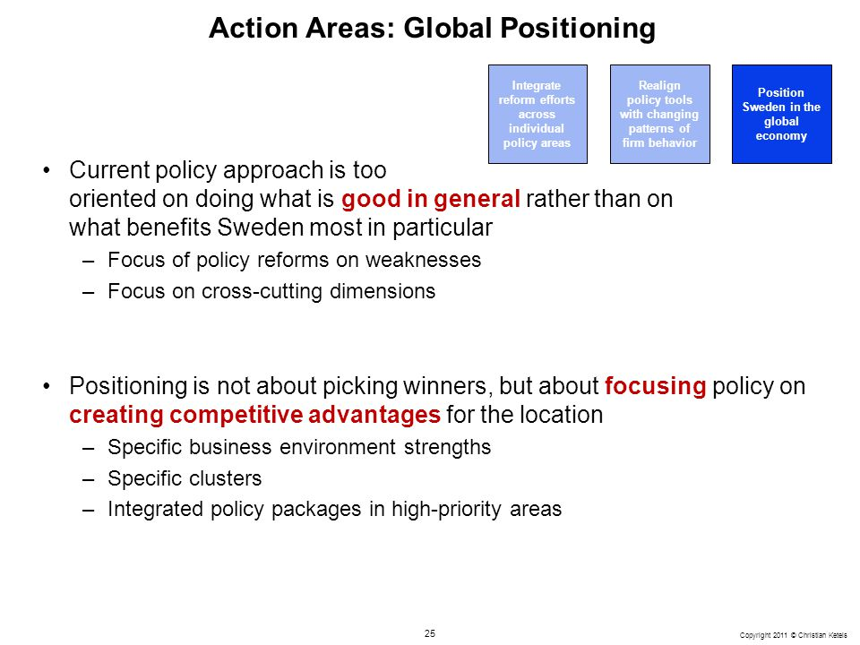 Action Areas: Global Positioning