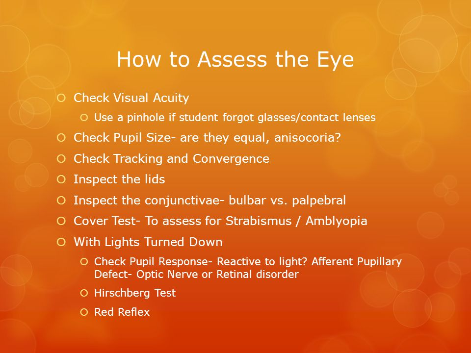 How to Assess the Eye Check Visual Acuity