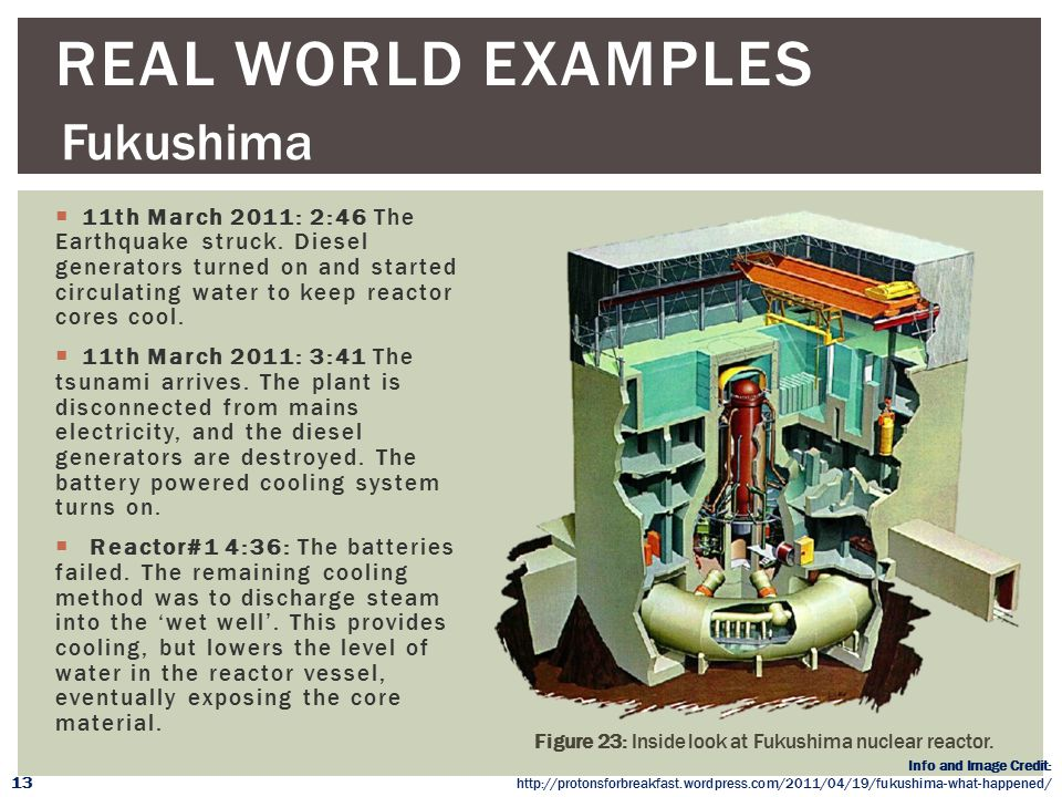 Real WORLD Examples Fukushima