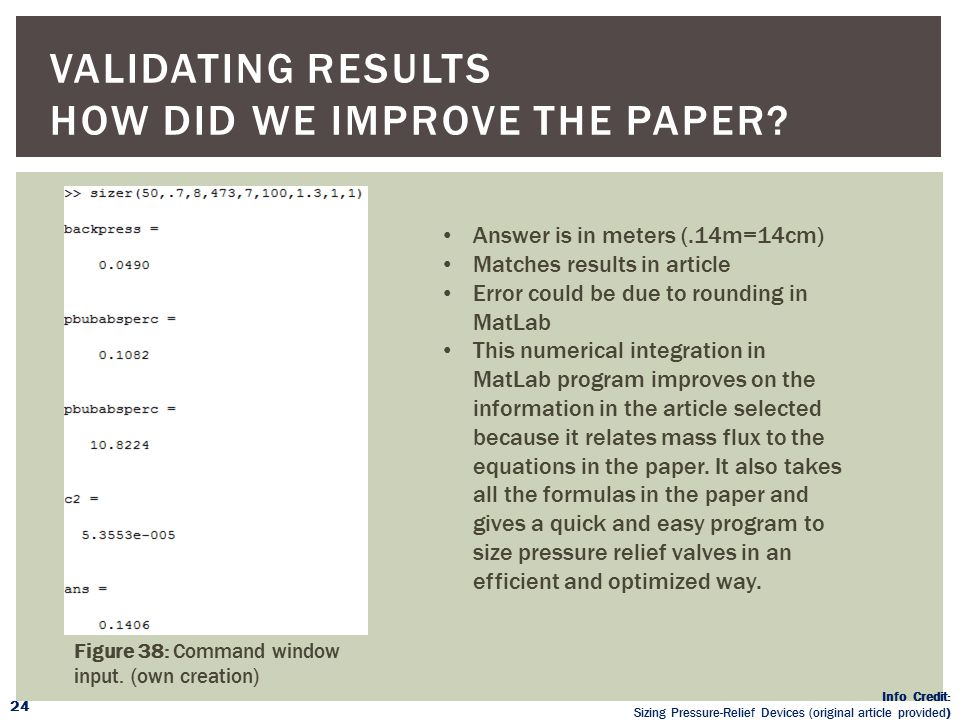 Validating Results How did we improve the paper