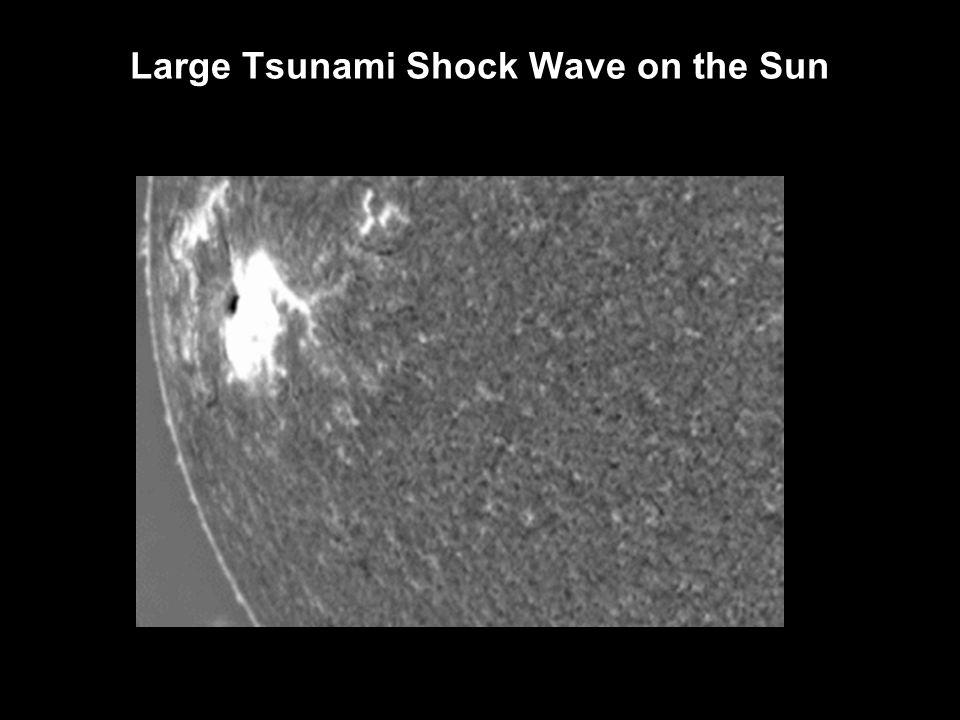 Large Tsunami Shock Wave on the Sun