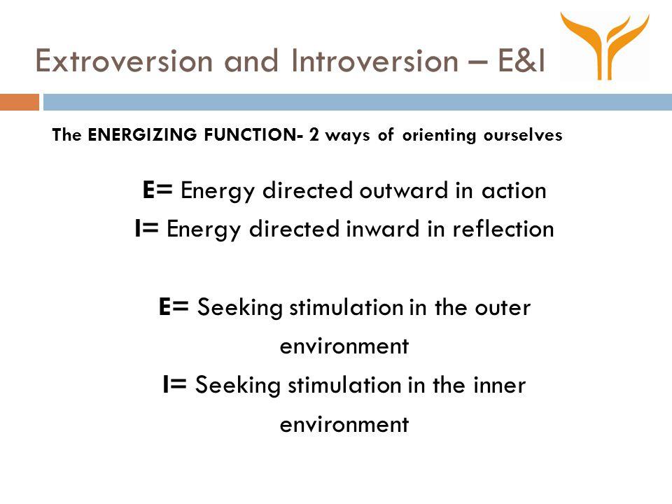 Extroversion and Introversion – E&I