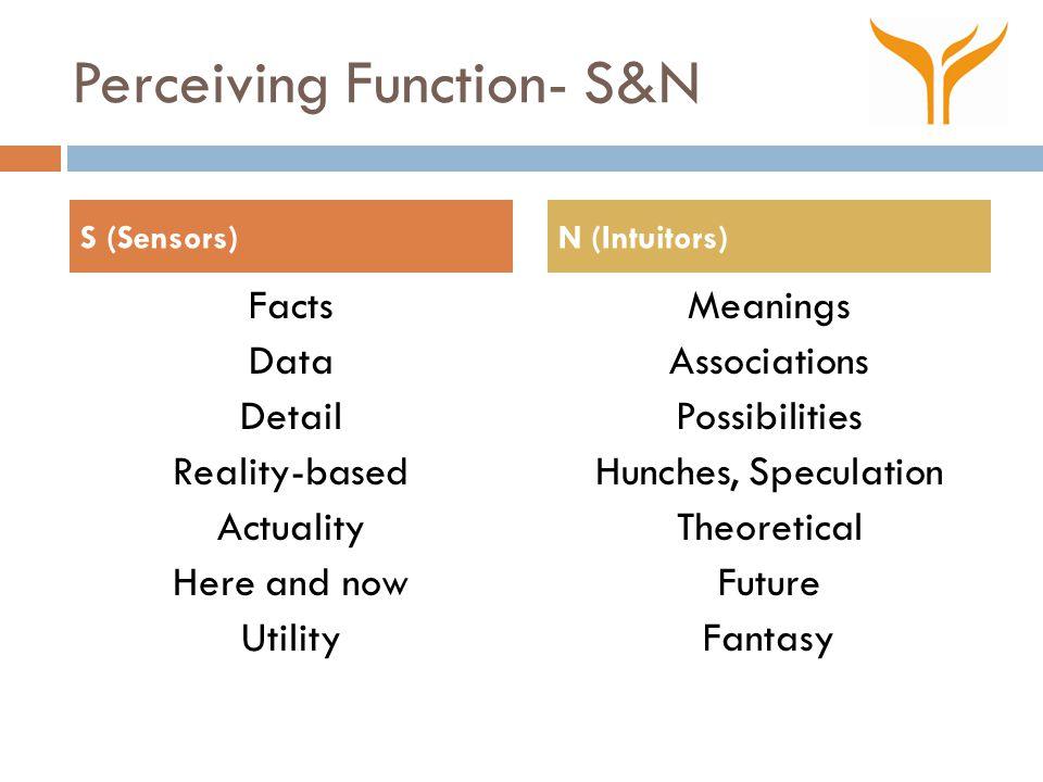 Perceiving Function- S&N