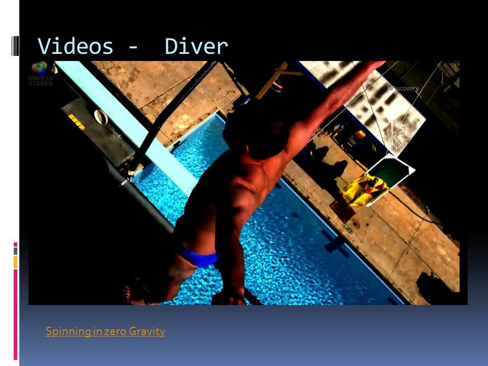 Videos - Diver Spinning in zero Gravity