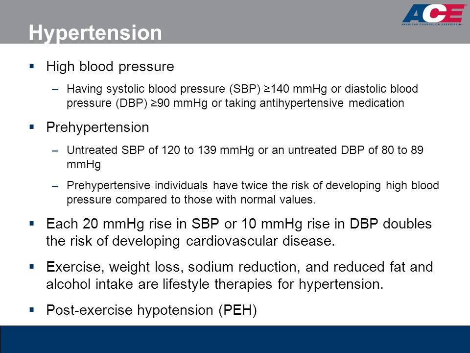 Hypertension High blood pressure Prehypertension