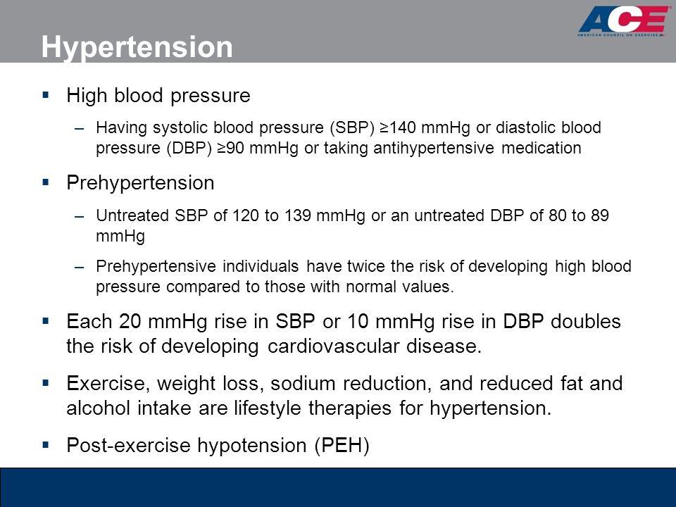 Hypertension High blood pressure Prehypertension