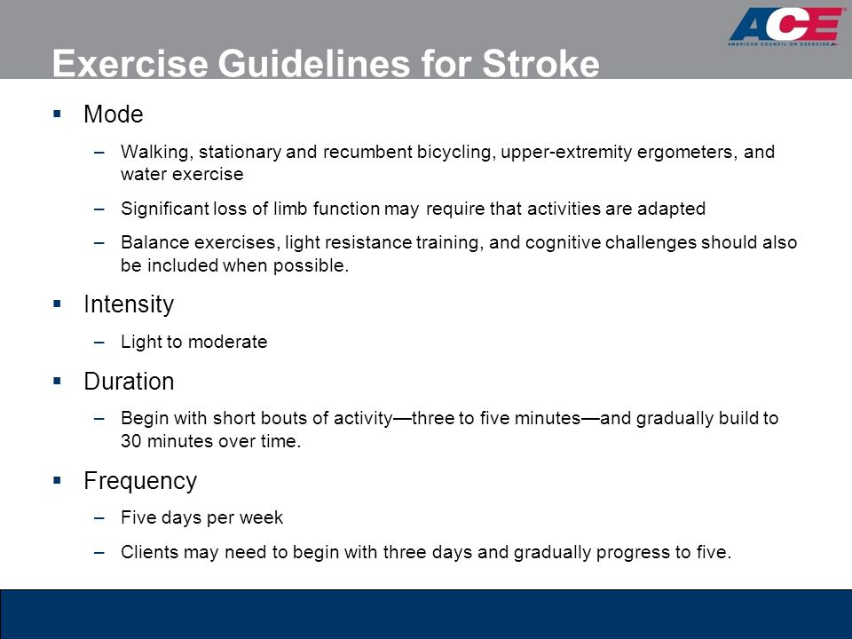 Exercise Guidelines for Stroke