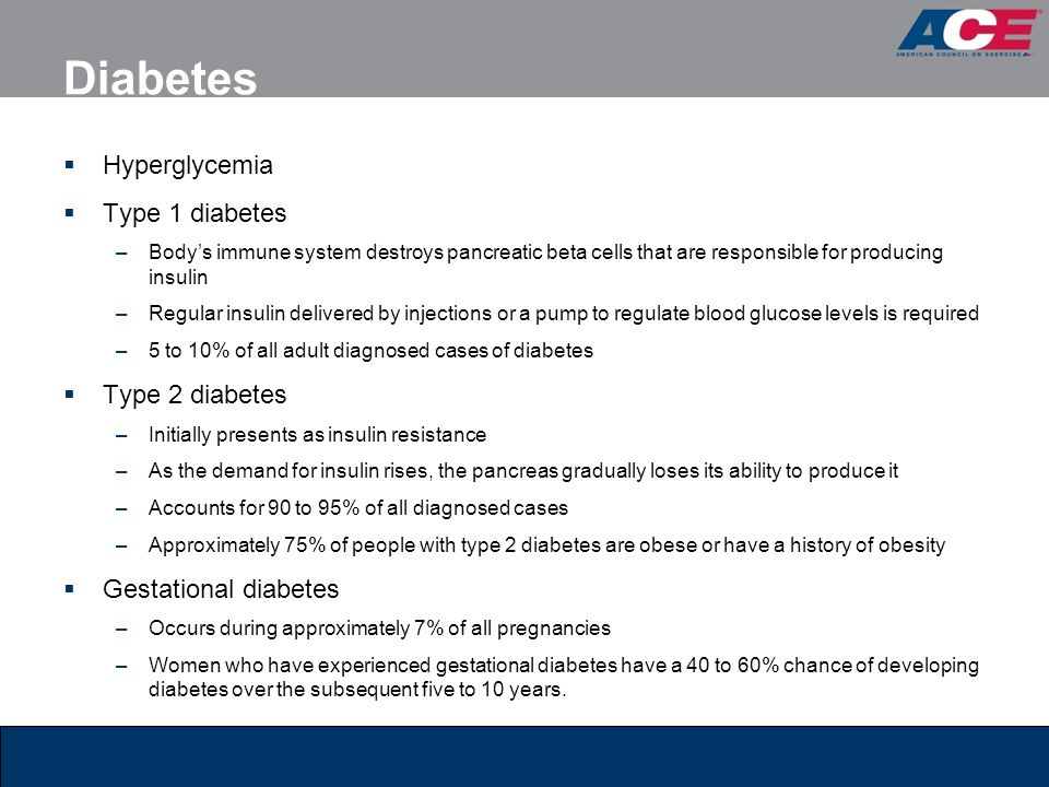 Diabetes Hyperglycemia Type 1 diabetes Type 2 diabetes