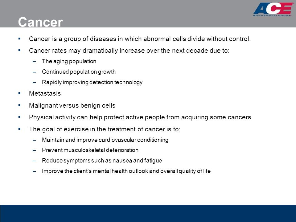 Cancer Cancer is a group of diseases in which abnormal cells divide without control.