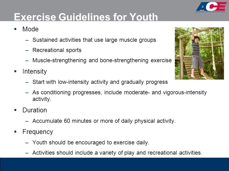 Exercise Guidelines for Youth