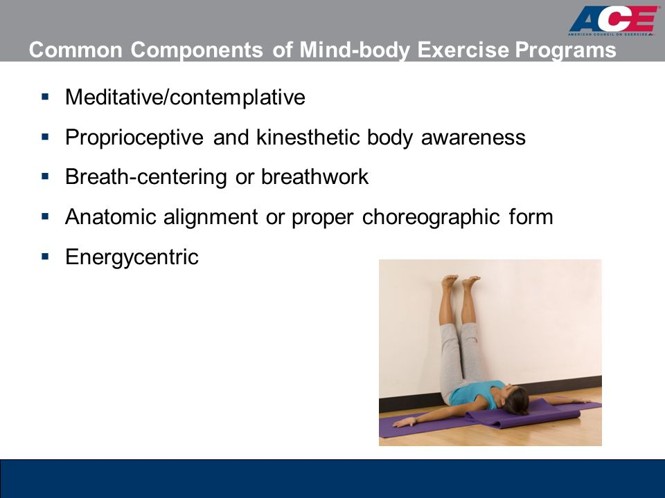 Common Components of Mind-body Exercise Programs