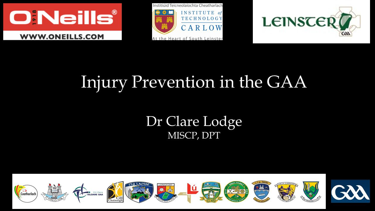 Injury Prevention in the GAA